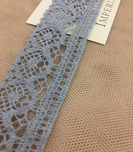 Grey lace trimming