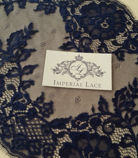 Navy Blue Lace trim