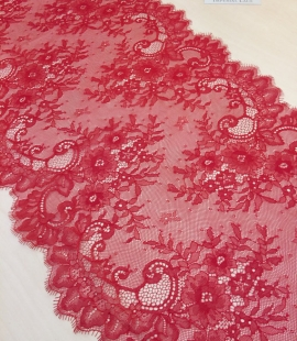 Red lace trim