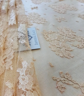 Rusty yellow lace fabric