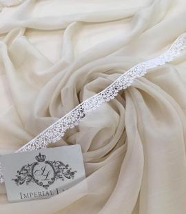 Beige silk chiffon fabric