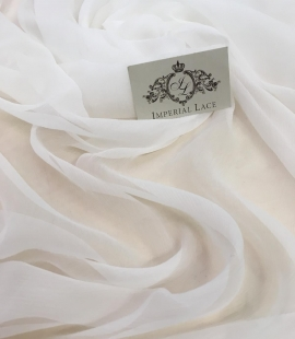 Light ivory silk chiffon fabric