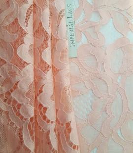 Salmon Pink Lace Trim