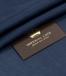 Dark blue silk lining...