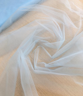 Light blue tulle fabric