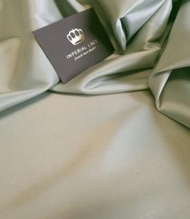 Olive green viscose and elastane lining fabric