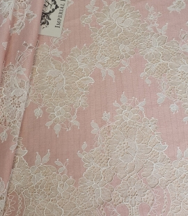 Pink with white flower pattern fabric