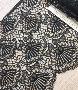 Black lace trimming
