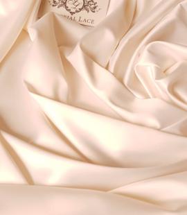 Light cream satin fabric
