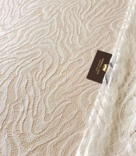 Ivory chantilly viscose lace fabric