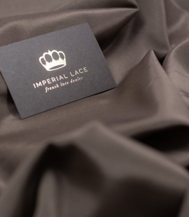 Brown viscose with elastane lining fabric