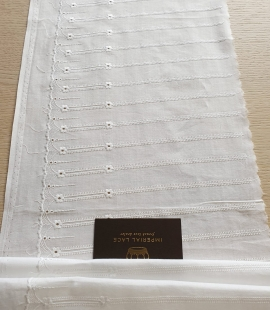 Off white 100% cotton lace trimming