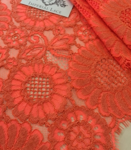 Orange Lace Fabric