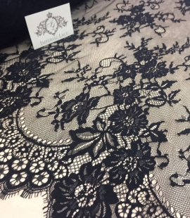 Black lace fabric Chantilly Lace