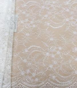 Ivory lace fabric