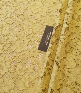 Pistachio green guipure lace fabric