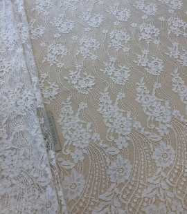 Cream white lace fabric