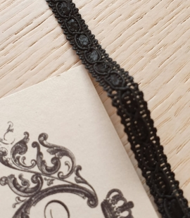 Black macrame lace trimming