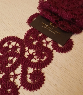 Wine red macrame lace trimming