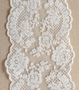 Ivory guipure lace trimming