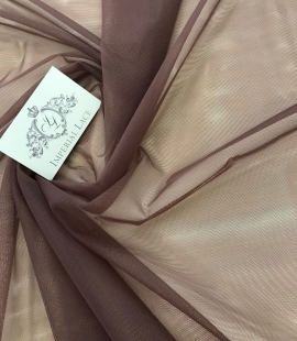 Dark brown tulle fabric