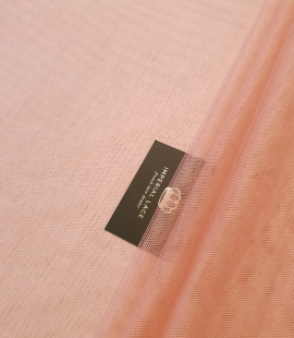 Darkish peachy pink silk tulle fabric