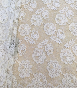 Ivory French lace fabric