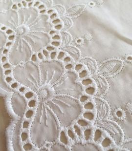 White cotton lace fabric