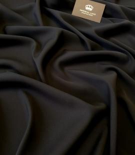 Black elastic silk fabric