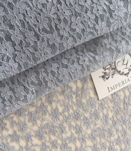 Grey Sophie Hallette lace fabric