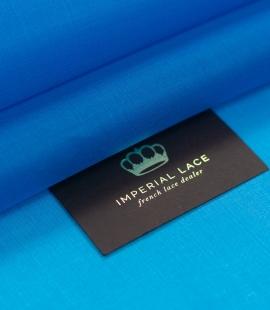 Blue silk satin organza fabric