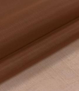 Brown silk organza fabric