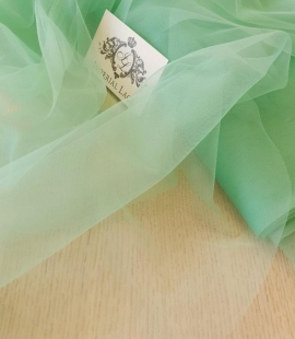 Mint green tulle fabric
