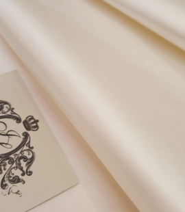 Ivory silk duchess fabric
