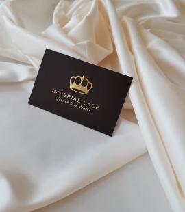 Ivory polyester satin