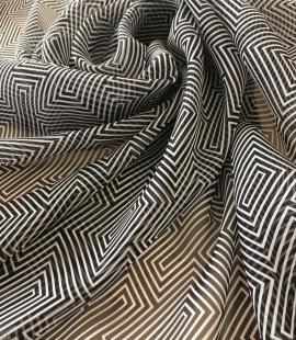 Silk chiffon with multicolored print