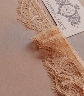 Beige chantilly lace trimming
