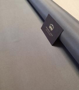 Dark grey viscose with elastane lining fabric