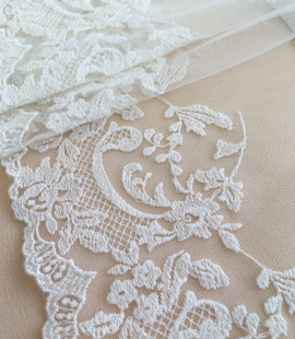 Ivory lace trim