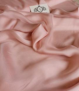 Pale pink silk chiffon fabric