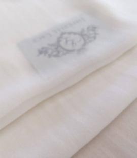 Ivory silk crepe chiffon