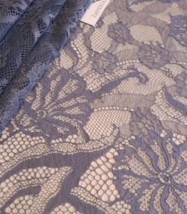 Graphite gray lace fabric