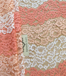 Multicolor lace fabric