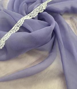 Lilac silk chiffon fabric