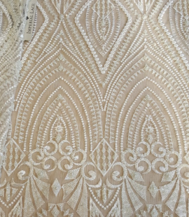 Offwhite 3D lace fabric