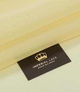 Light yellow silk organza fabric
