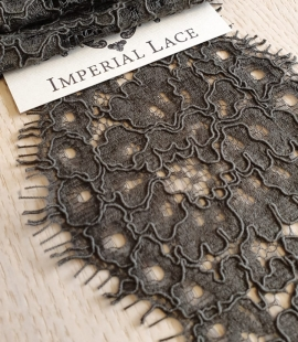Greyish green guipure lace trimming