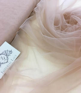 Powder tulle fabric