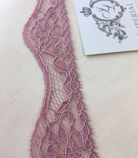 Old rose elastic lace