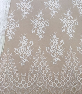 Off-white lace fabric by the yard